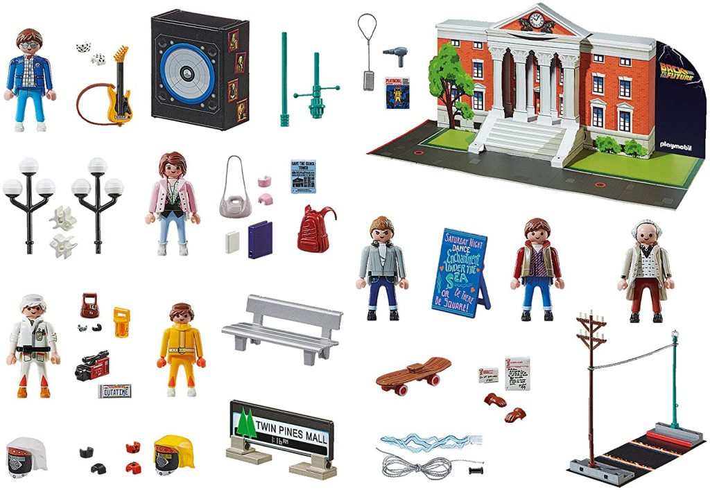 Contents: Playmobil 70574 Back to the Future Advent Calendar 2020