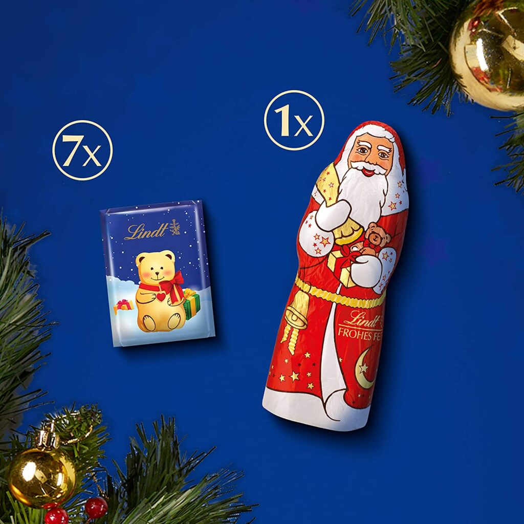 Contents: Lindt Milk Chocolate Advent Calendar 2018