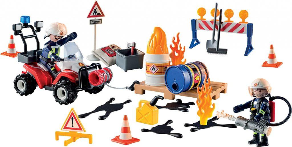 Contents: Playmobil 9486 Advent Calendar Construction Site Fire Rescue 2019
