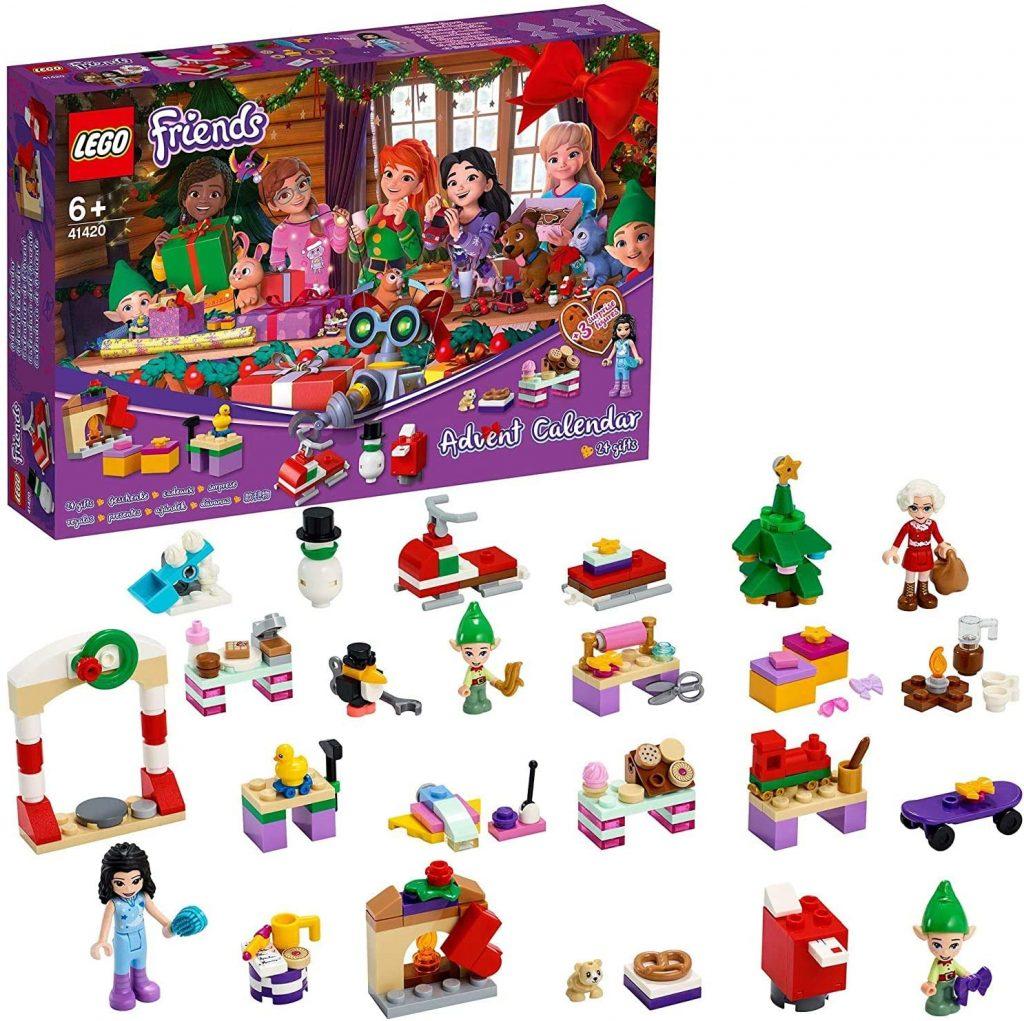 Contents: LEGO 41420 Friends Advent Calendar 2020