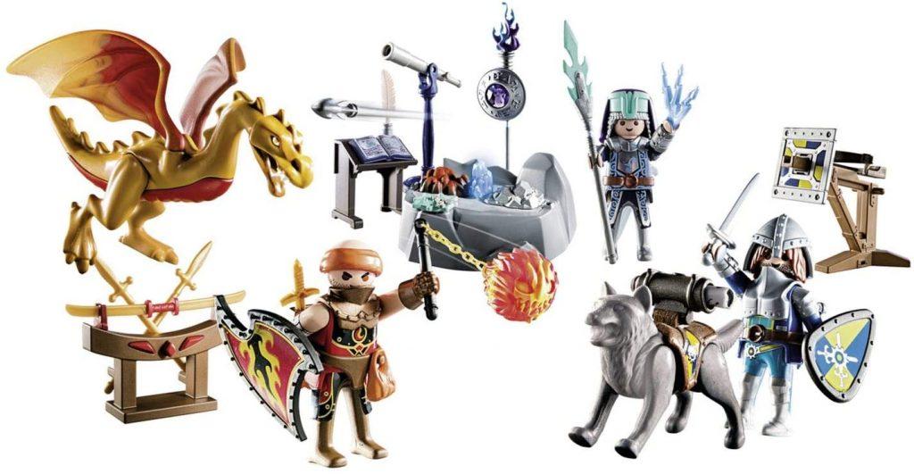 Contents: Playmobil 70187 Knights of Novelmore Advent Calendar 2019