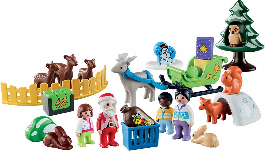 Contents: Playmobil - 1.2.3 9391 Advent Calendar 2018, Christmas in the Forest
