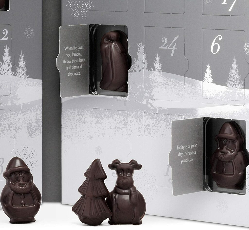 Contents: Hotel Chocolat The Advent Calendar, Dark, Vegan, 2020