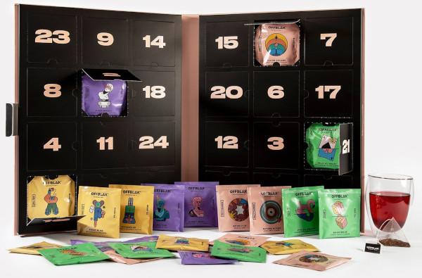 Contents: Offblak Tea Advent Calendar 2020