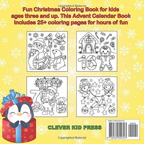 Contents: Advent Calendar Coloring Book 2020