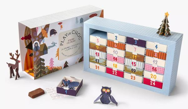 Contents: PLAYin CHOC Organic Chocolate Advent Calendar 2020