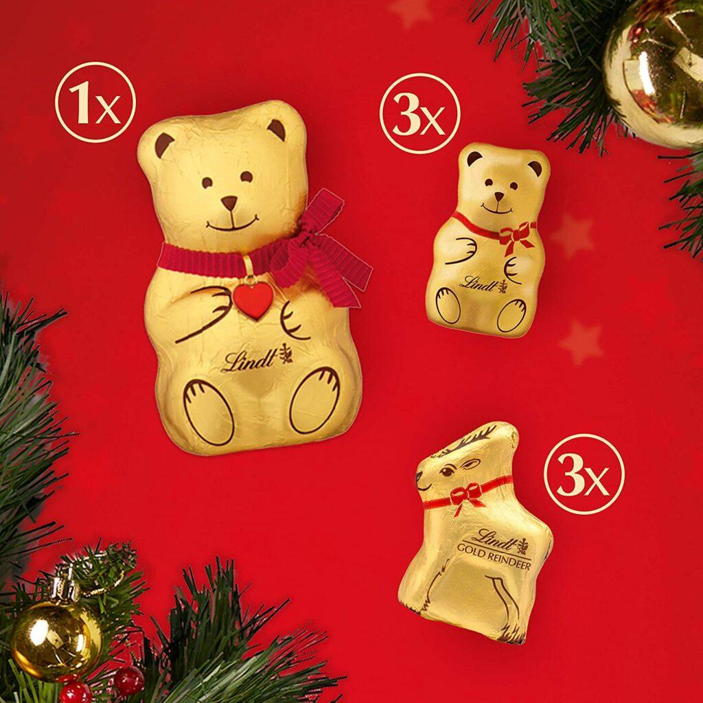 Contents: Lindt Teddy Advent Calendar
