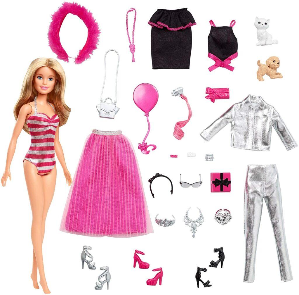 Contents: Barbie GFF61 Christmas Advent Calendar 2019