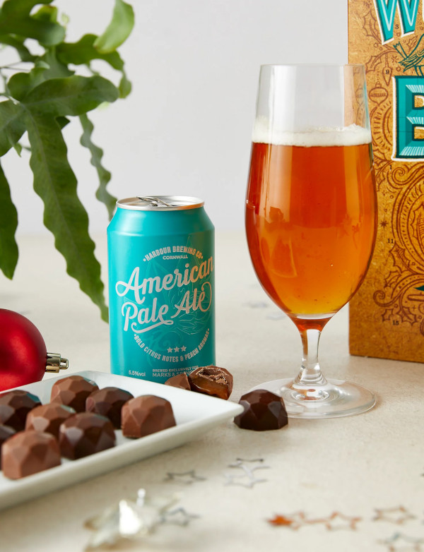Contents: M&S It's the Most Wonderful Time for a Beer Advent Calendar 2020