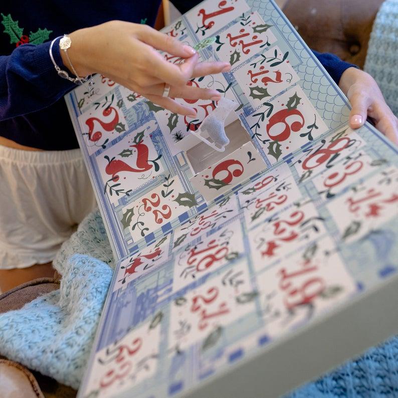 Contents: Personalized Tea Advent Calendar Letteroom