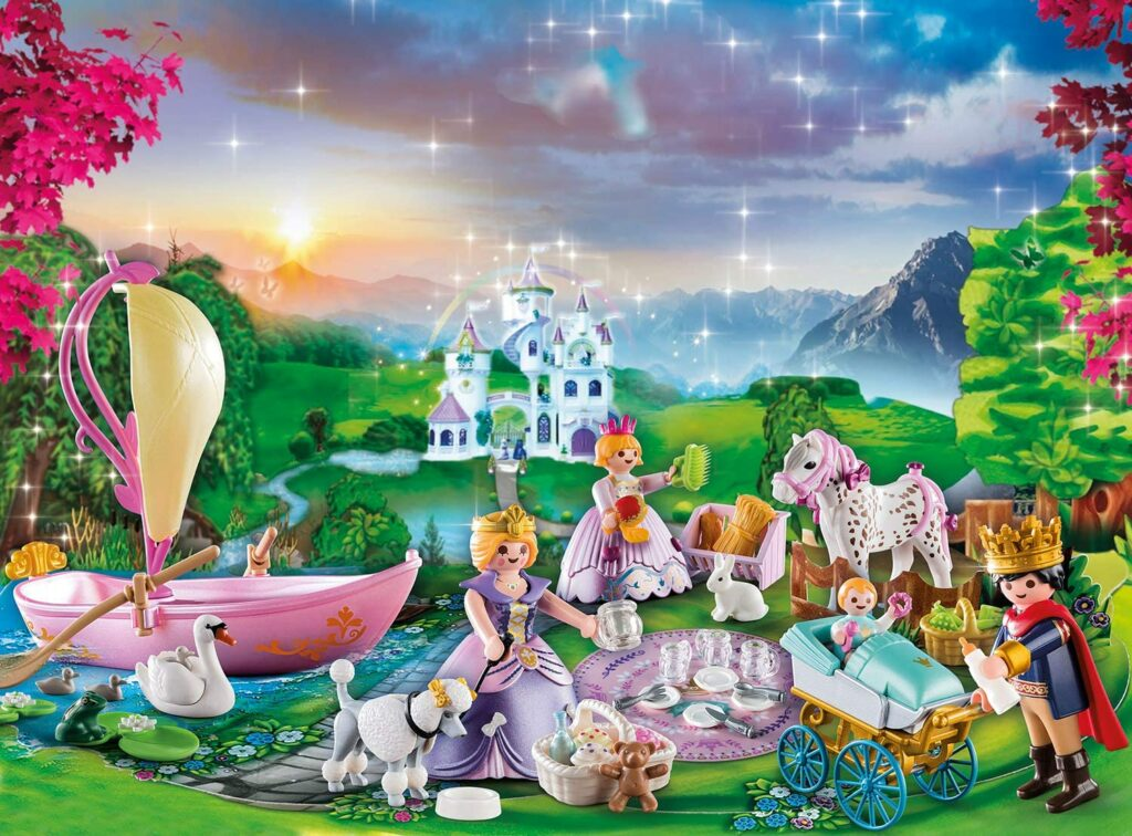 Contents: PLAYMOBIL Advent Calendar 70323 Royal Picnic in the Park 2020