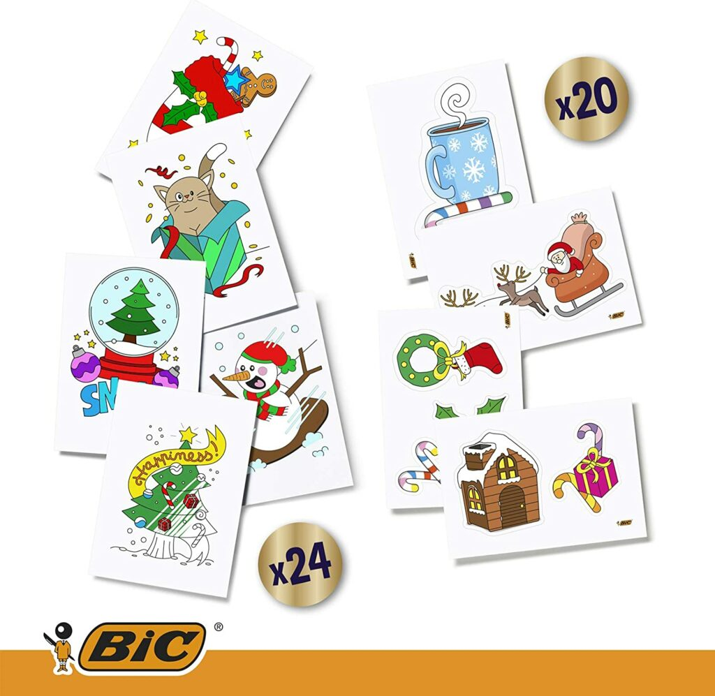 Contents: BIC Stationery Advent Calendar 2018