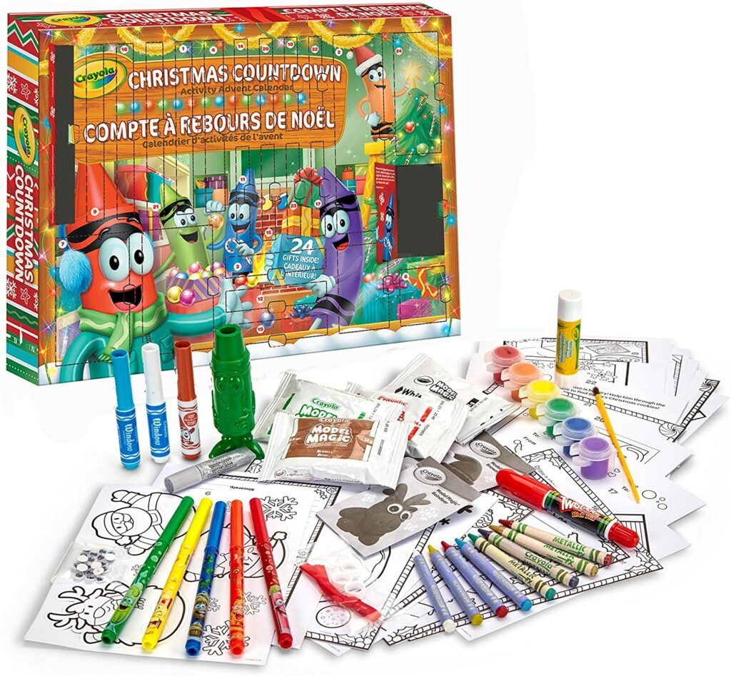 Contents: CRAYOLA Christmas Countdown Activity Advent Calendar 2020