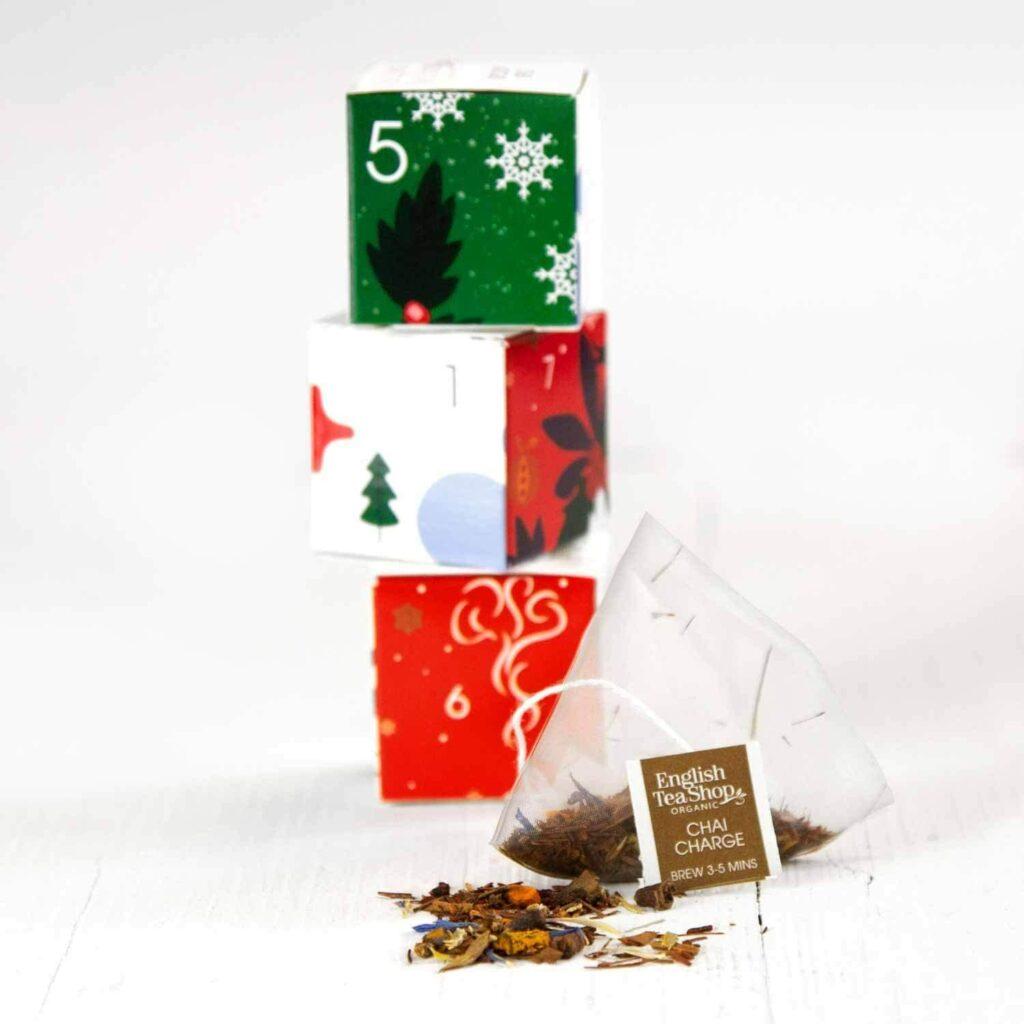 Contents: English Tea Shop Organic Green Advent Calendar Puzzle 2020