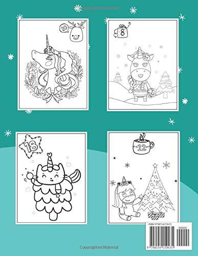 Contents: Unicorn Advent Calendar Coloring Book 2020