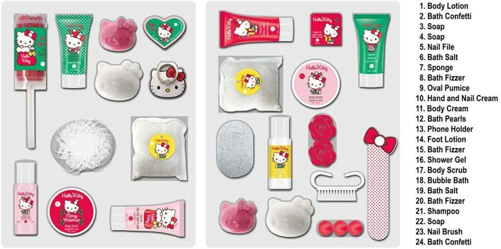 Contents: Hello Kitty 2020 Advent Calendar accentra
