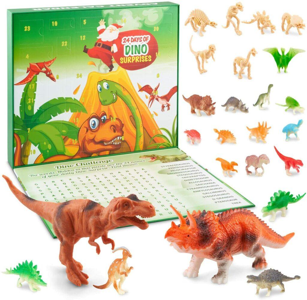Content: HAPIDS Dinosaur Advent Calendar for Kids - 24 unique dinosaur toy figures