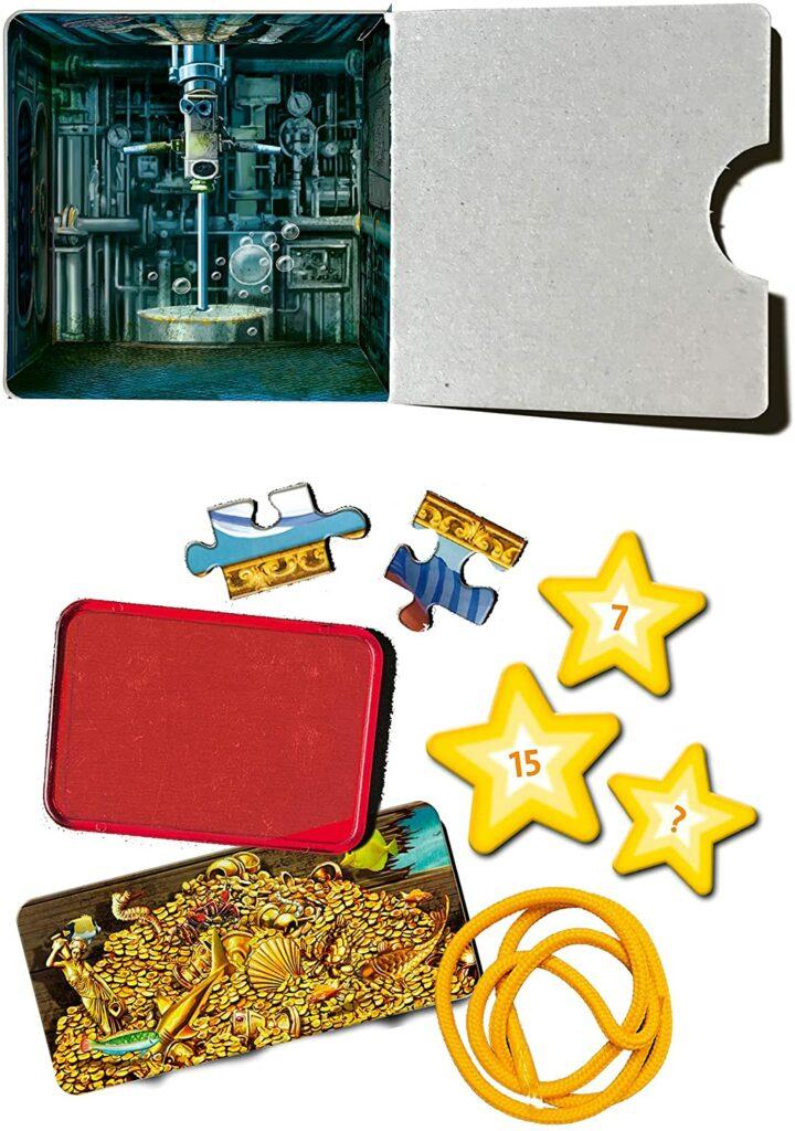 Content: Ravensburger Escape Room Mystery Puzzle - Submarine 2021 Advent Calendar