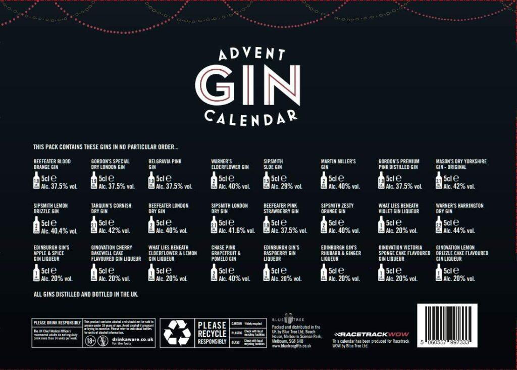 Content: Gin Advent Calendar