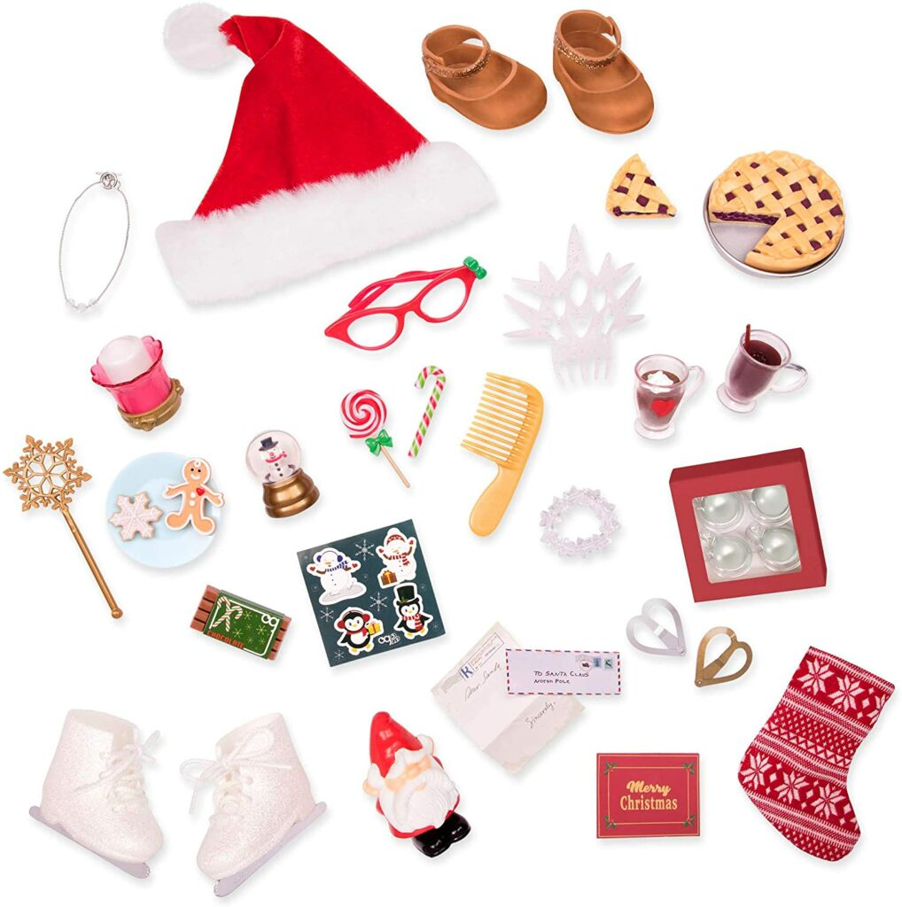 Content: Our Generation BD37968C1Z Holiday Advent Calendar with Doll Toy Accessories for Kids 3 and Up