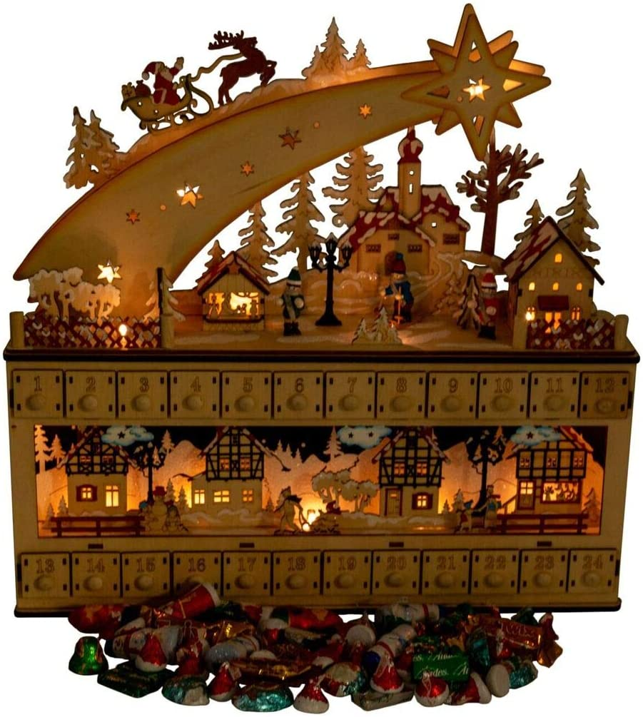 Content: Shooting Star Snowy Village 24 Day Advent Calendar by Clever Creations