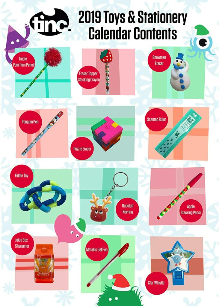 Content: Tinc XADVNT19 Junior Advent Calendar 2019 for Kids - 24 Exclusive Toys Gifts